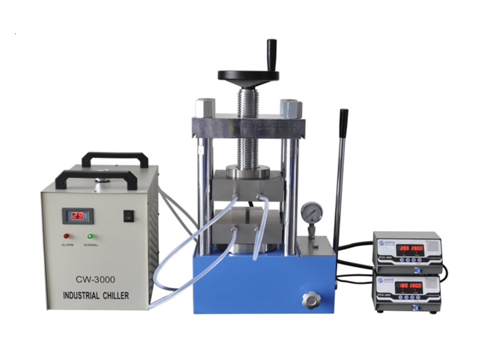 PCH-600D 60 ton laboratory heating press with double heating plate