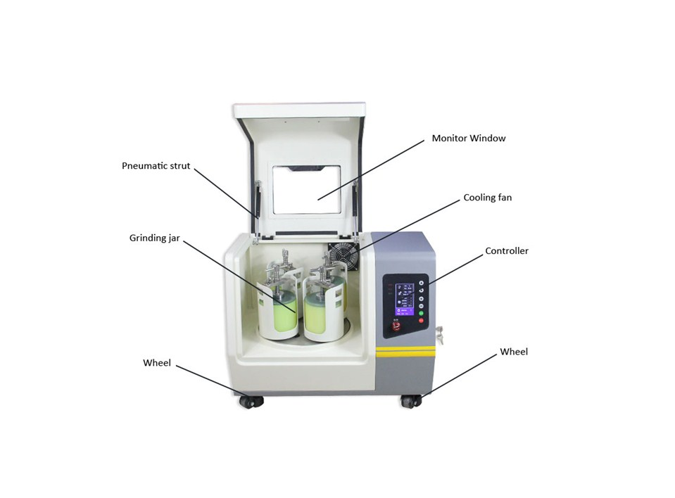 2L Laboratory Planertary Ball Mill with Oil Sealing