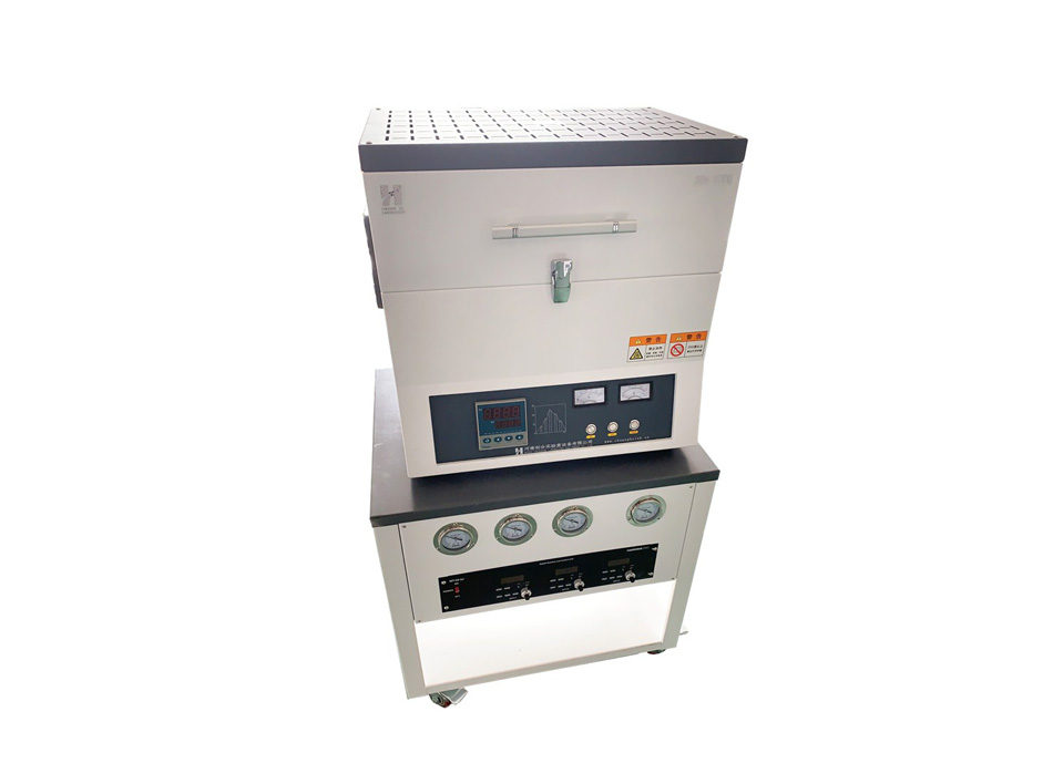 1200 degree Tube Furnace with Vacuum Pump 3 Channel MFC Gas Station T1260A-3Z